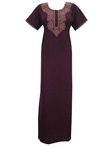 Womans Long Caftan Kaftan Embroidered Muumuu Dress Loungerwear Medium Mogul Interior http://www.amazon.com/dp/B00VNNKN6Y/ref=cm_sw_r_pi_dp_Sa3ivb1GKESH4