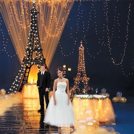 Here S To The Night Complete Theme Lights Eiffel Tower Paris What More Do You Need For Prom