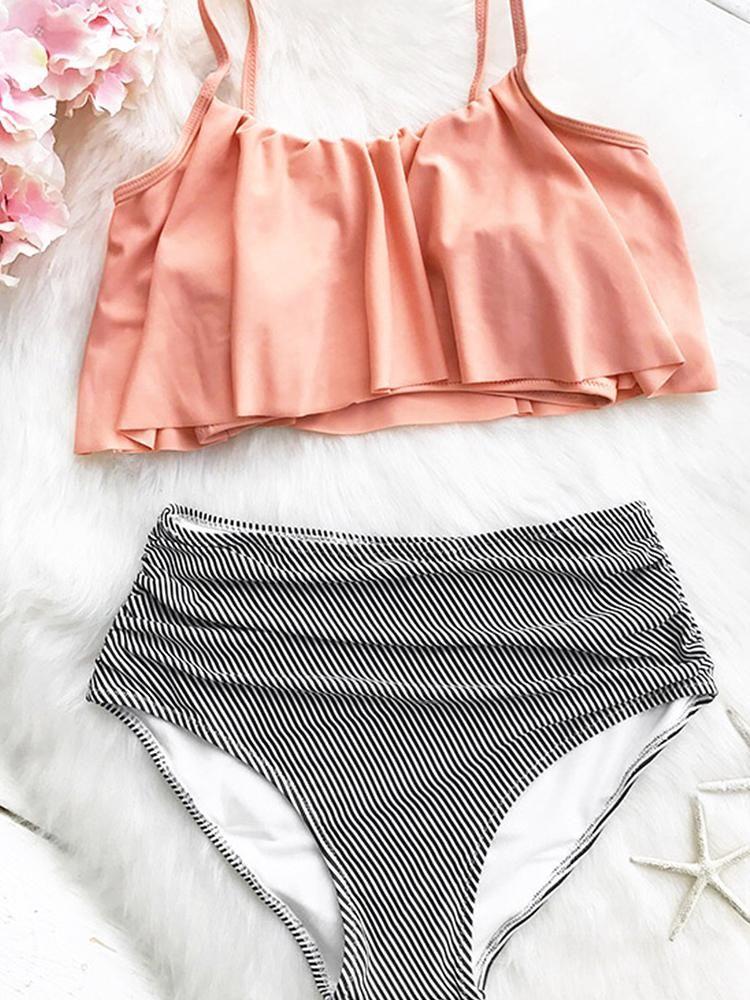 Sunny Days Bikini Set En 2020 Trajes De Bikini Trajes De Bano Discretos Vestidos De Bano Ninas