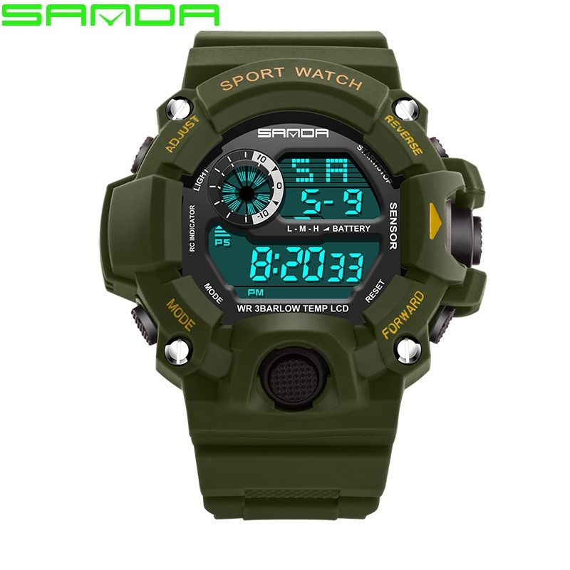 5b6745d6e43 Watch Men Sanda Brand Men s Sports Watches LED Digital Watch Waterproof  Fashion Casual Military Sport Watch