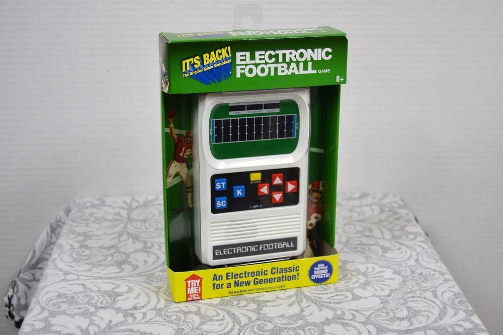 Electronic Handheld Football Game Electronic Football Game Vintage Mattel Electronics Football I Take Along Electronic Football Game