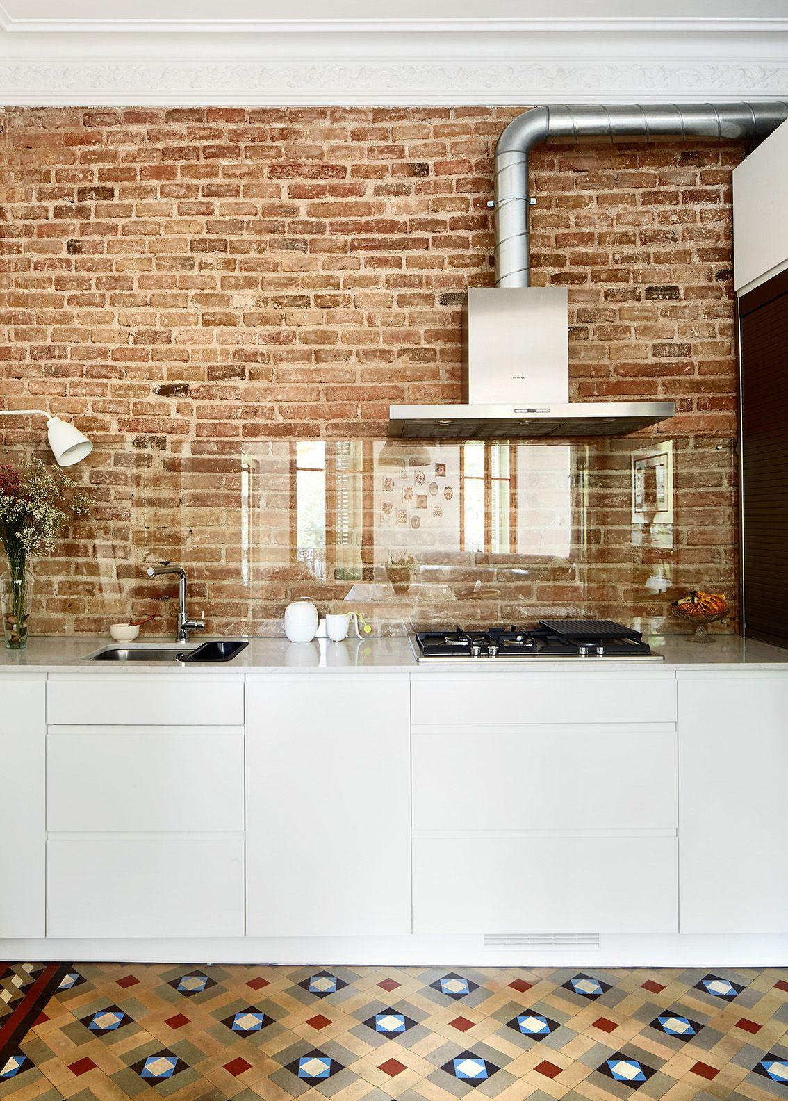 cocina con frente de vidrio - Construcción en seco: ideas para ...
