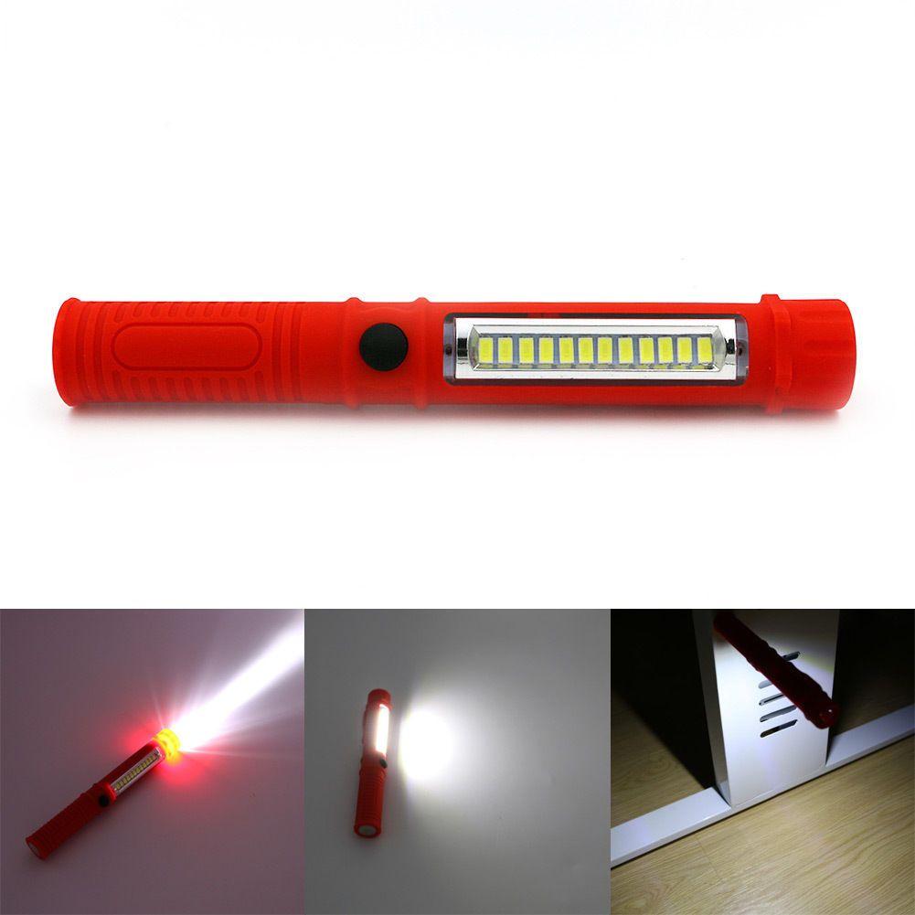 Portable LED Pen light Magnetic Inspection Car Work Pocket Torch Emergency Lamp