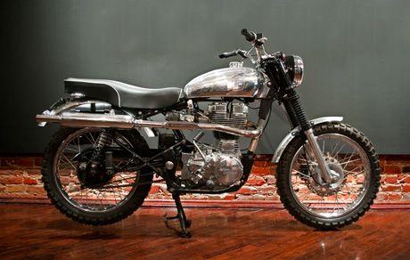 Motorcycles | Hammarhead Industries Woodsman EFI based on a Royal Enfield Bullet G5. 500cc Thumper!