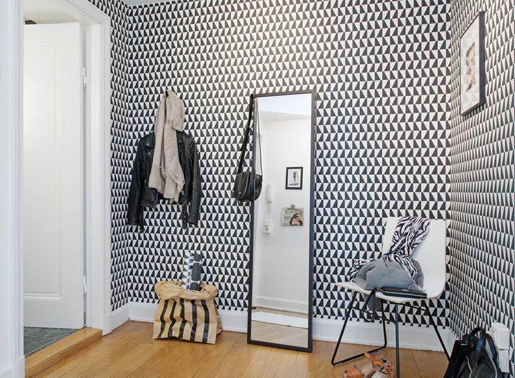papier peint noir et blanc Inspiration maison Pinterest White