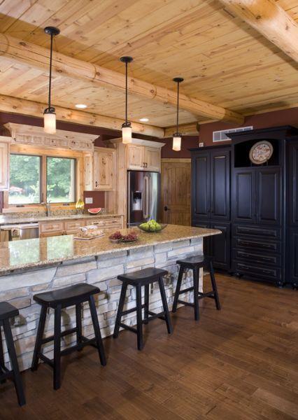 Compact Hybrid Timber Frame Home Design Photos Timber Home Living: Custom Hybrid Log Homes & Timber-Frame Homes