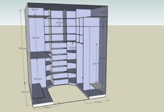Astuces pour aménager un dressing  emplacement, forme, rangements - creer un plan de maison