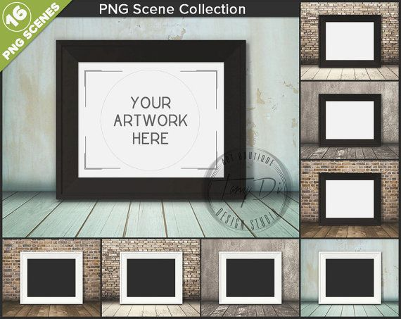 8x10 16x20 White & Black Wide Frame on Wood by TanyDiDesignStudio ...