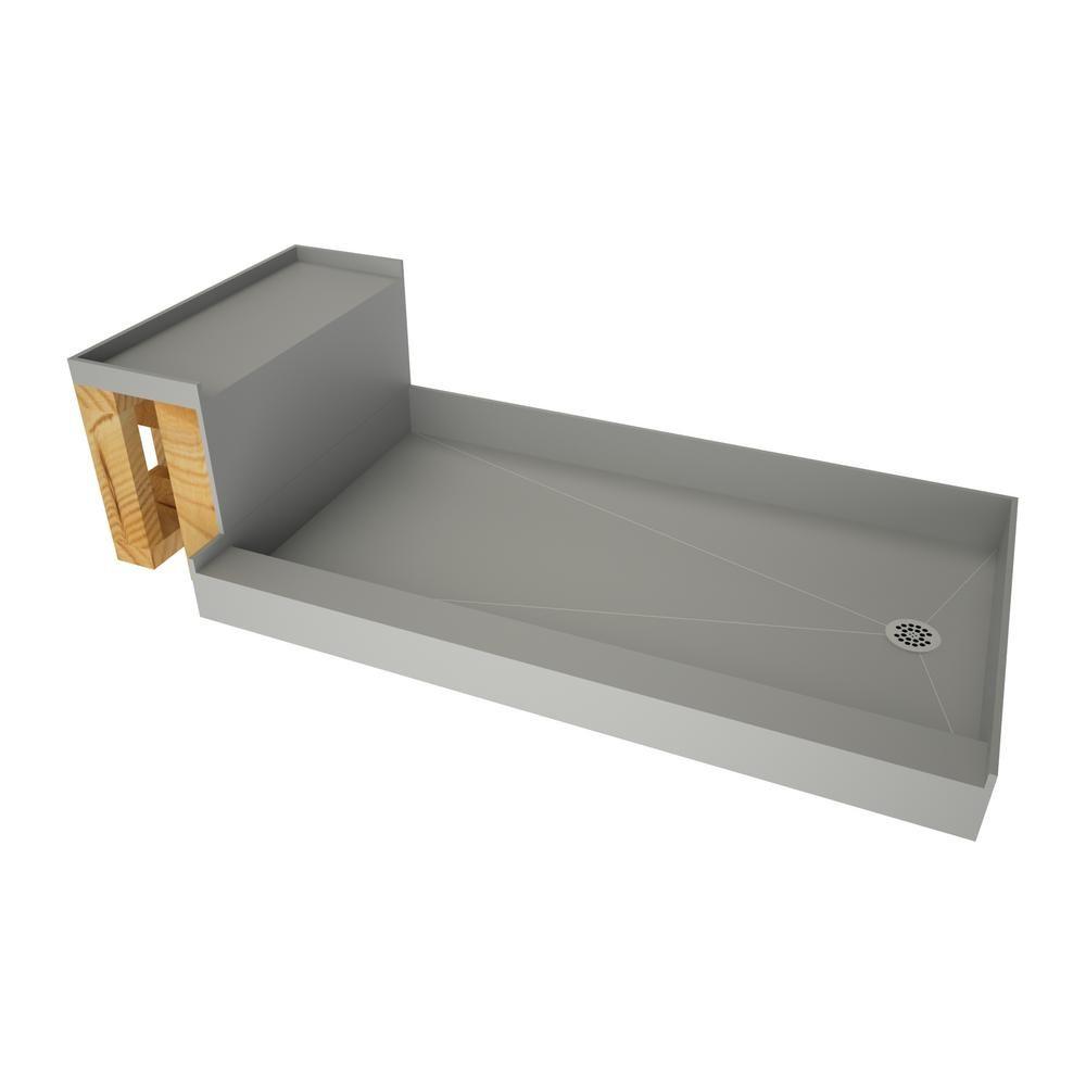 Tile Redi Base N Bench 42 In X 72 In Single Threshold Shower