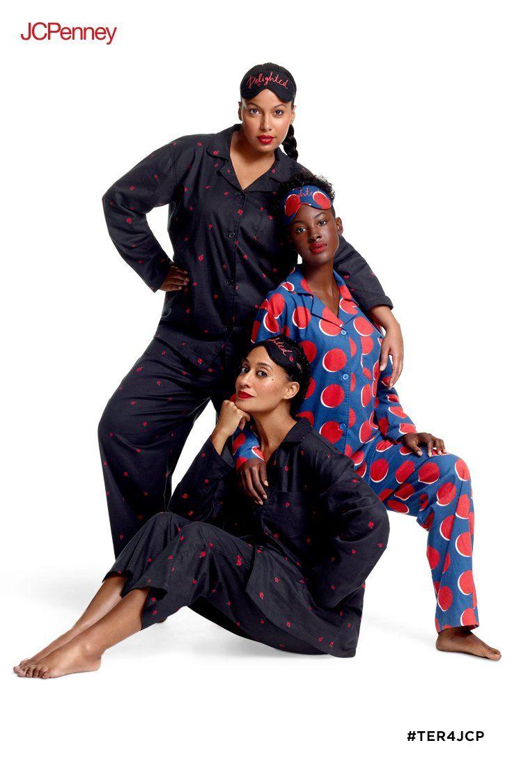 642d9eeb0 Pajama sets by Tracee Ellis Ross for JCPenney are flirty, fun and  definitely not a snooze fest. Prints are a delightful oversized dot and a  joyful ladybug ...