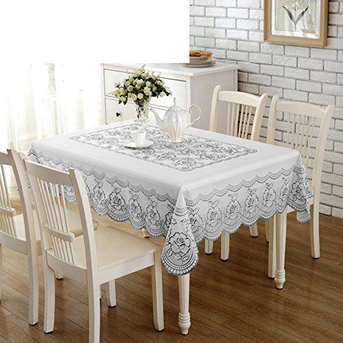 Pvc Tablecloth Waterproof European Style Plastic Table Cloth Anti