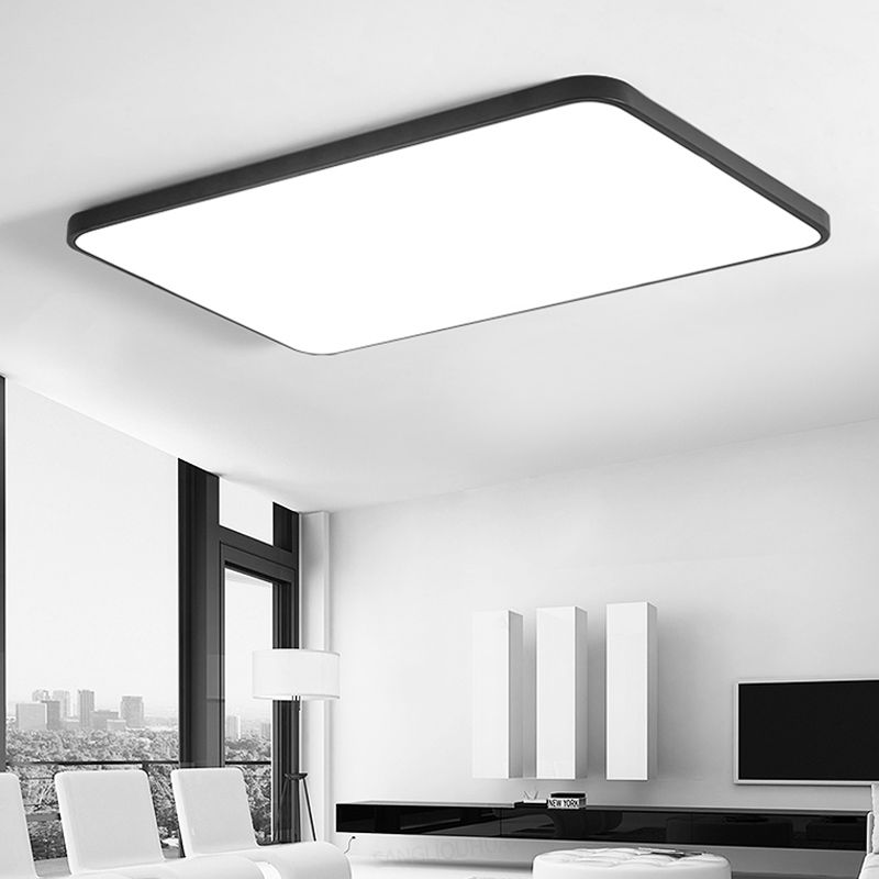 find more ceiling lights information about modern led black white square ultra t lamps living room brace for fan