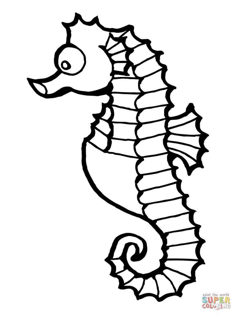 Free Printable Coloring Pages Regarding Seahorse Fish Coloring Pages Horse Coloring Pages Animal Coloring Pages Fish Coloring Page