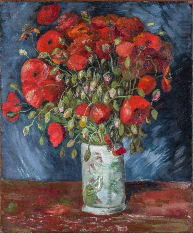 Vincent Van Gogh Vase Of Poppies 1886 Poppy Art Van Gogh Art Van Gogh Paintings