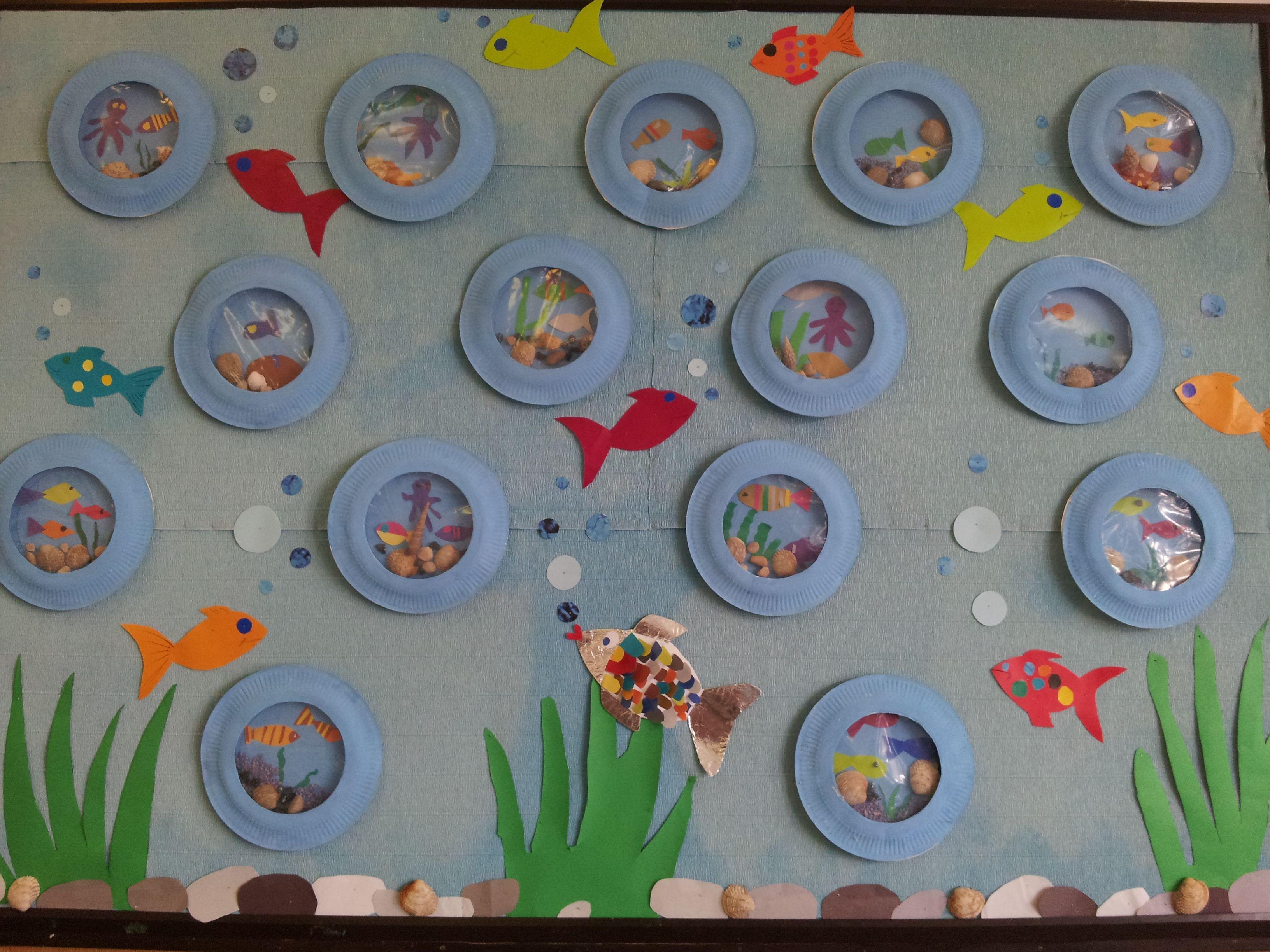 Classroom Aquarium Ideas : Summer bulletin board paper aquarium my school crafts