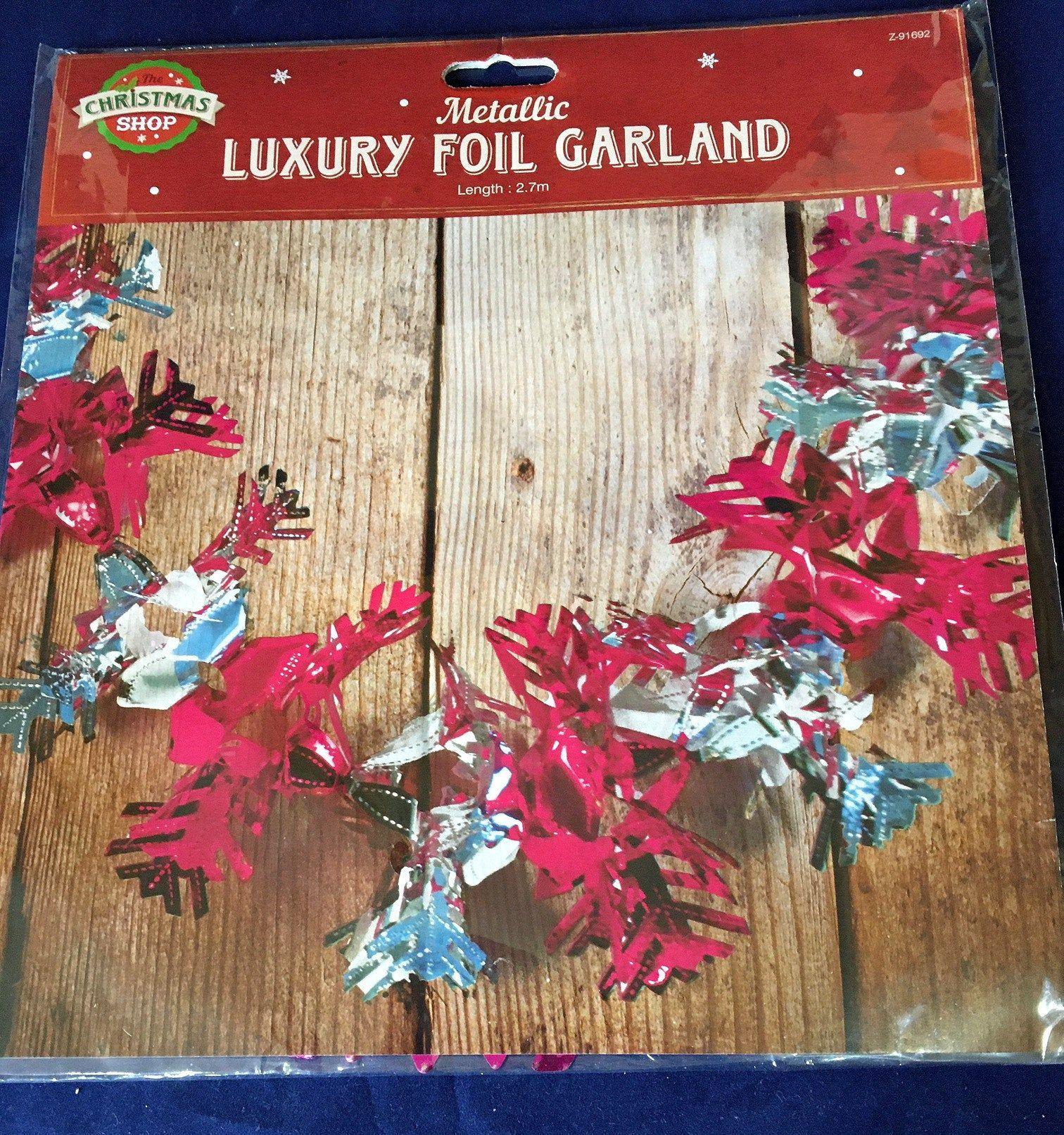Christmas 2020 Vs Christmas 1970s NOS Vintage Christmas Foil Garland 1970s Festoon Garland   Etsy in