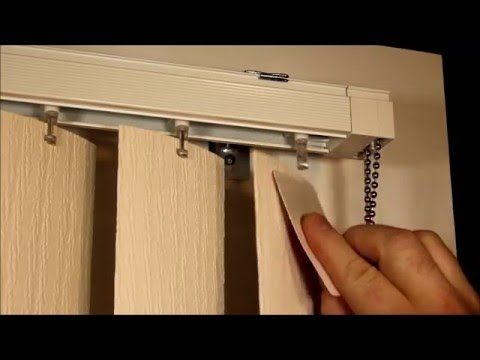 How To Remove Vertical Blinds.How To Remove And Replace Vertical Blind Vanes Youtube