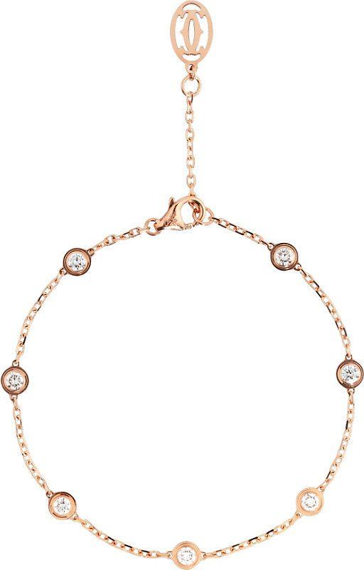Cartier Diamants Légers De Cartier 18ct Rose-Gold Bracelet