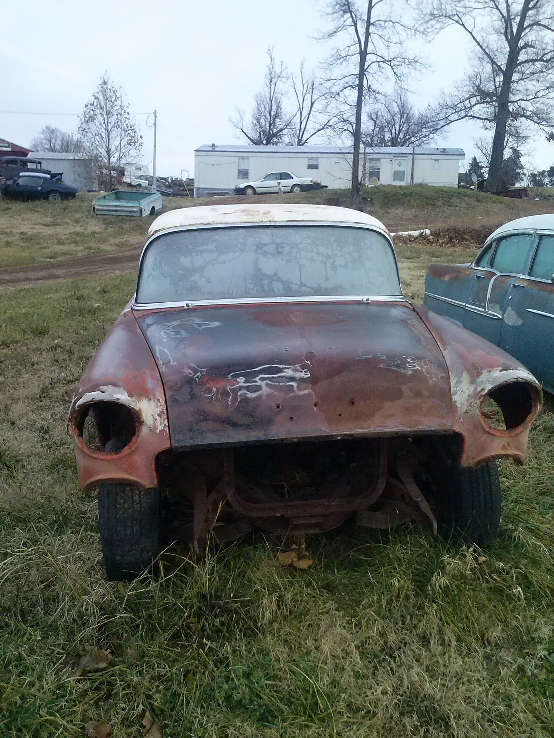'55 Chevy 2-door post for sale somewhere in North Central Arkansas. Tripper's Travels.