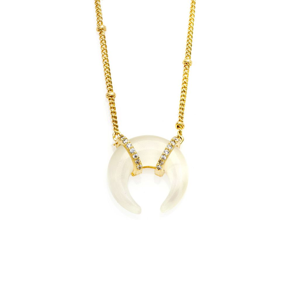 Mini Stone Tusk- Cream – MELANIE AULD JEWELRY