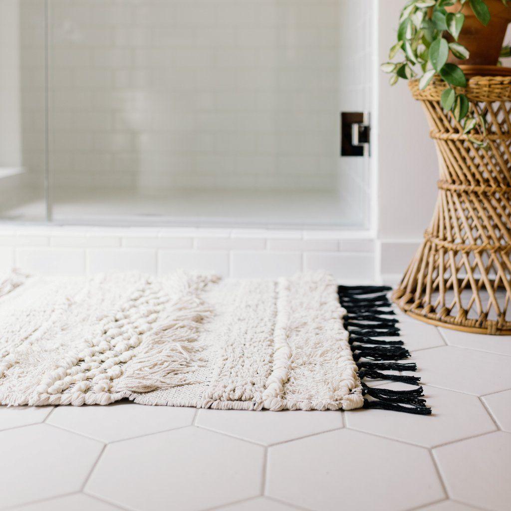 Knot & Weave Bath Mat  Modern bath mat, Bathroom floor mat, Bath rugs