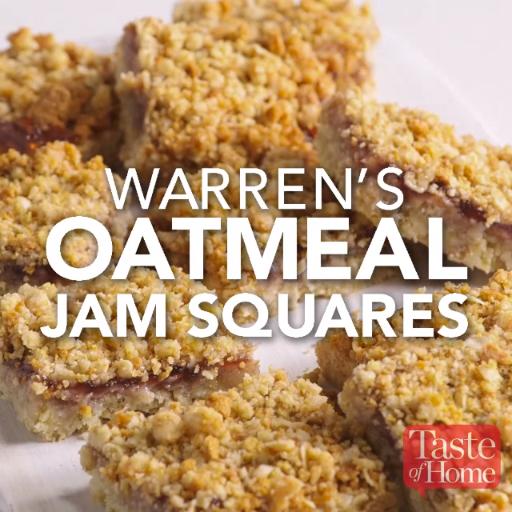 Warren's Oatmeal Jam Squares Recipe