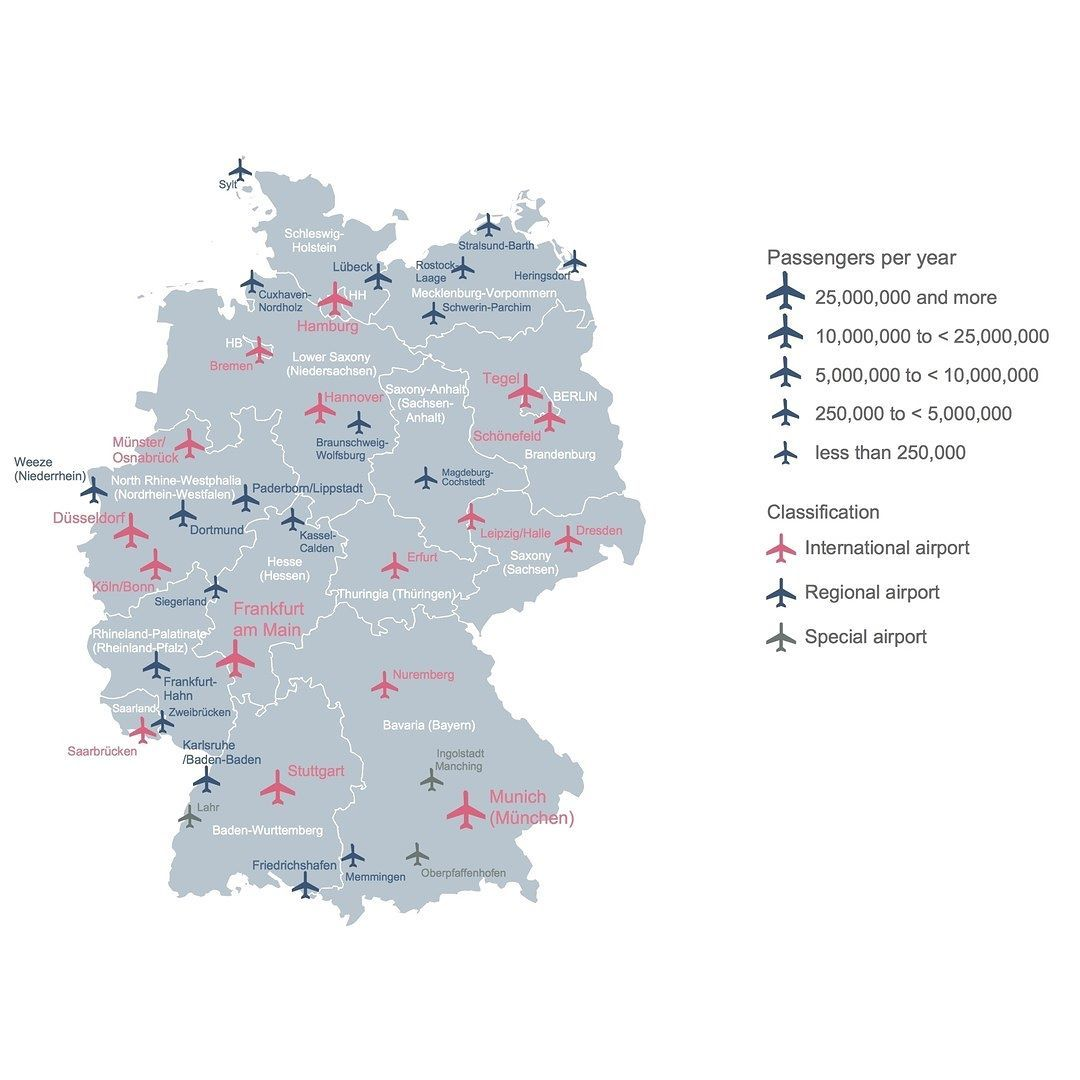 Example Airports In Germany Map Germanymap Germany