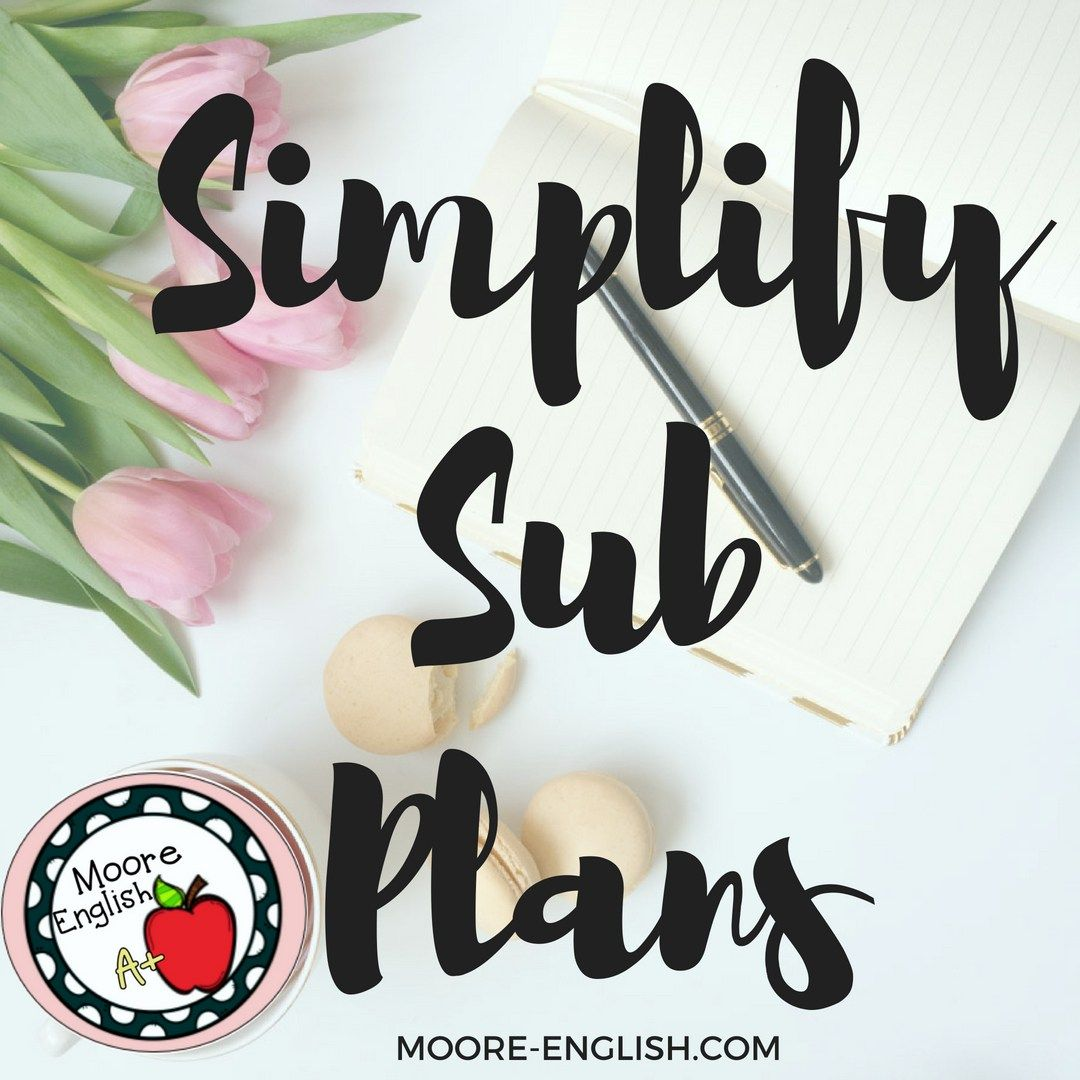 Simplify Sub Plans With This Easy Strategy. This Is Not An
