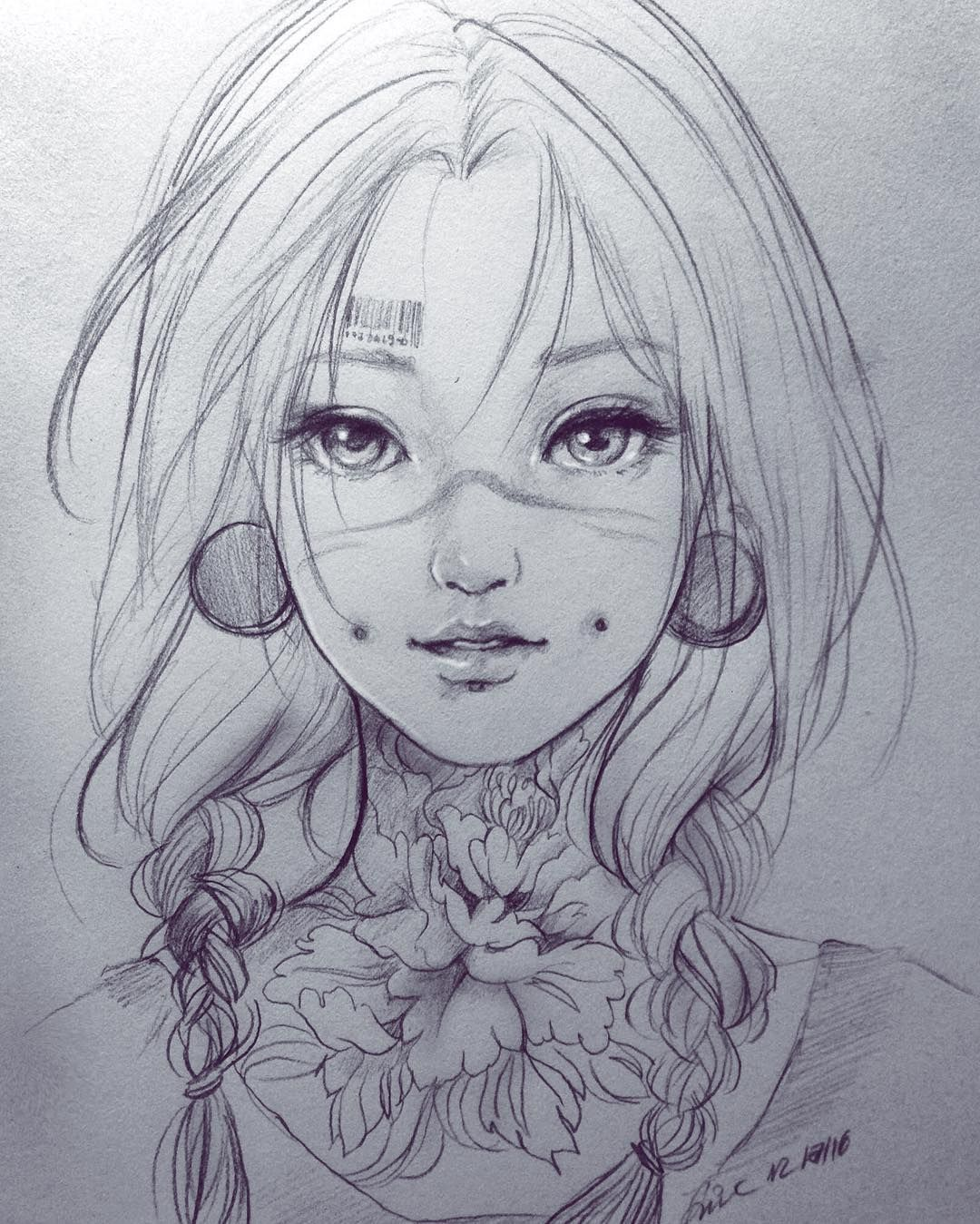 Draw by Đức Anime art beautiful, Sketches, Anime drawings