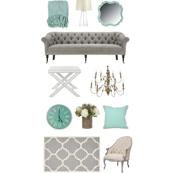Gray And Teal Living Room By Jurzychic On Polyvore: FWTX - Teal & Grey