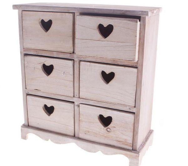 Shabby chic heart drawers @Jonathan Nafarrete Argueta