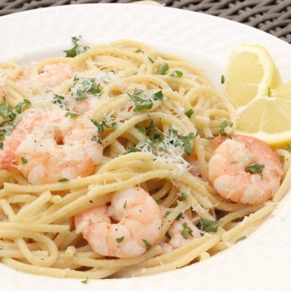 Lemon Garlic Shrimp Scampi #shrimpscampi