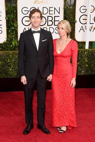 Golden Globes 2015 Red Carpet Arrivals Golden Globes 2015 Mollie Gates Golden Globe Award