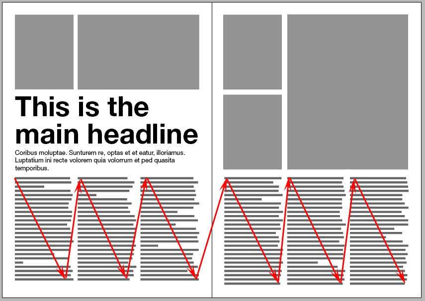 Magazine spreads good and bad practices texts natural for Bad in design