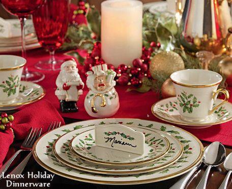 gorgeous christmas tables | Lenox Holiday Dinnerware Christmas ...