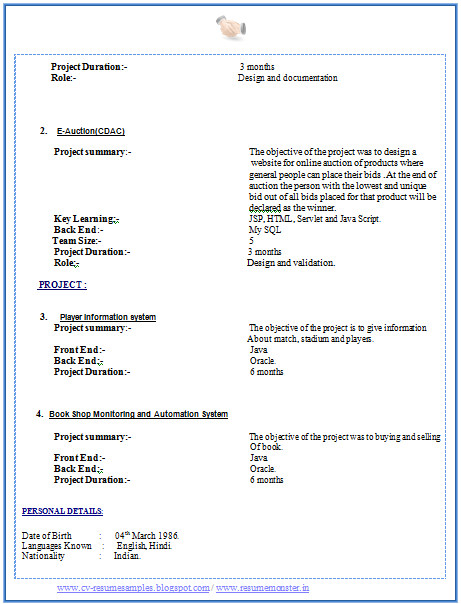 latest mca bca fresher resume smaple with free download - Free Download Sample Resume Mca Fresher