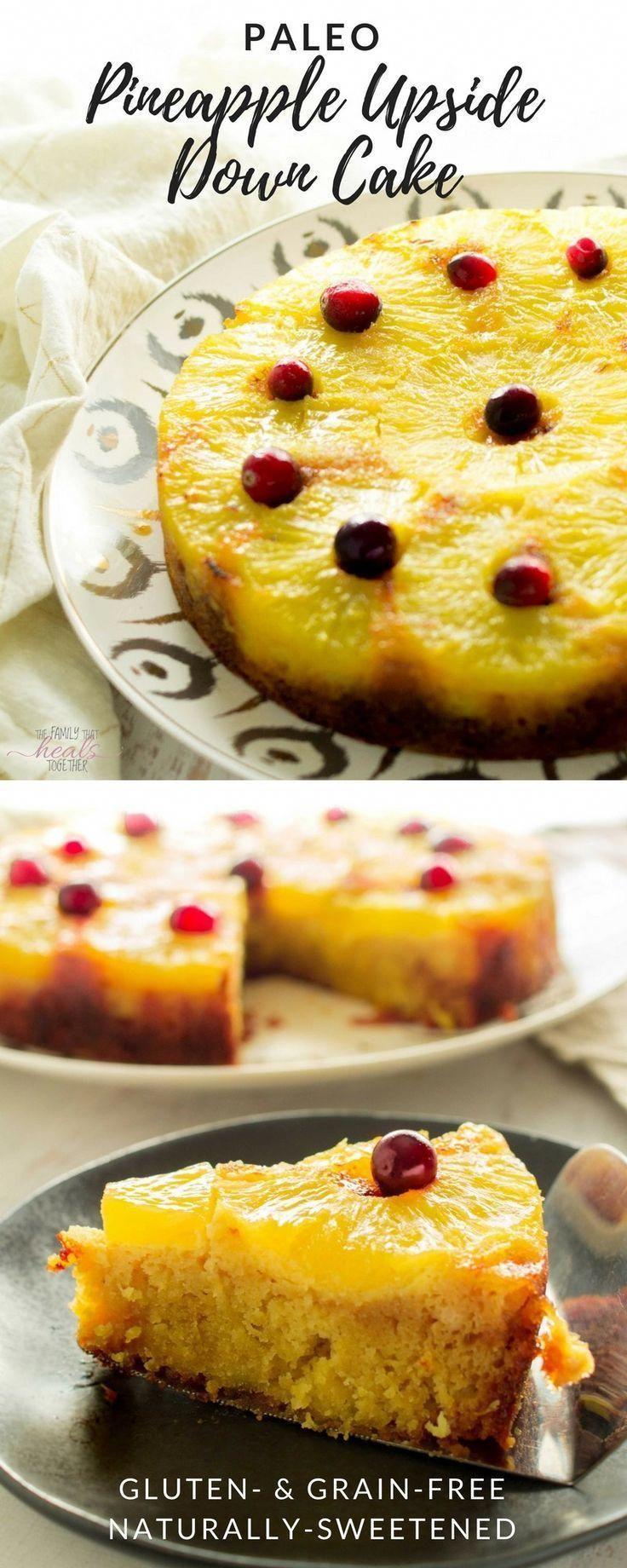 Paleo pineapple upside down cake