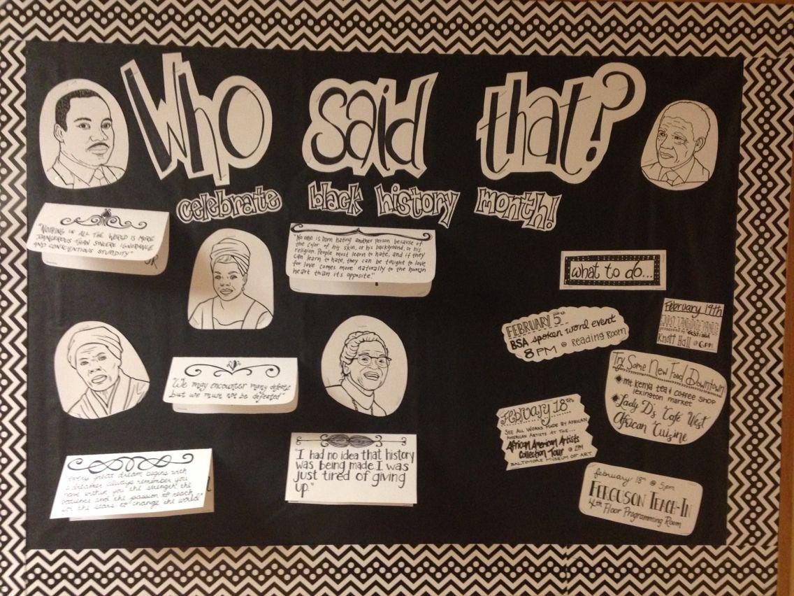 Ra black history month february bulletin board ra shniz for Black bulletin board ideas