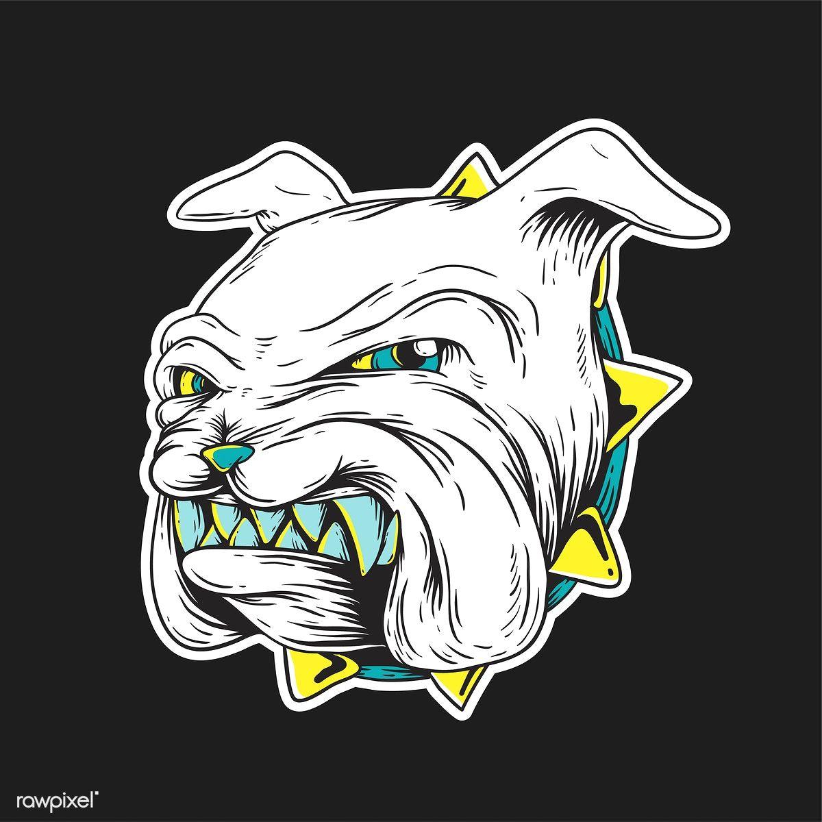 Growling Bulldog Vector Get This Creative Vector At Www Rawpixel Com Dog Vector Free Vector Illustration Vector Free
