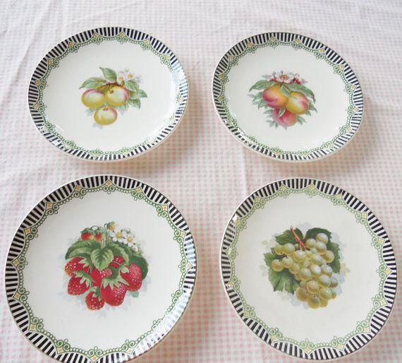 Set Of 4 Vintage Villeroy And Boch Salad Plates