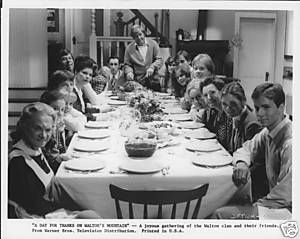 The Waltons Cast Seated At Dining Table Original Photo Ebay