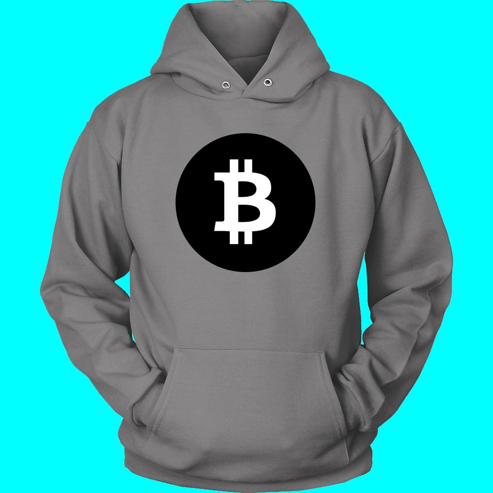 Bitcoin Black Circle Hoodie Hoodies, Black and white