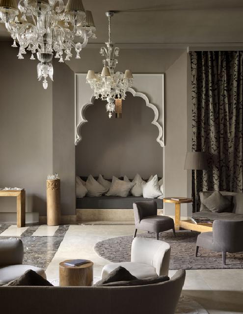 Estilo arabe moderno tonos grises y claros con toques de for Decoracion arabe interiores