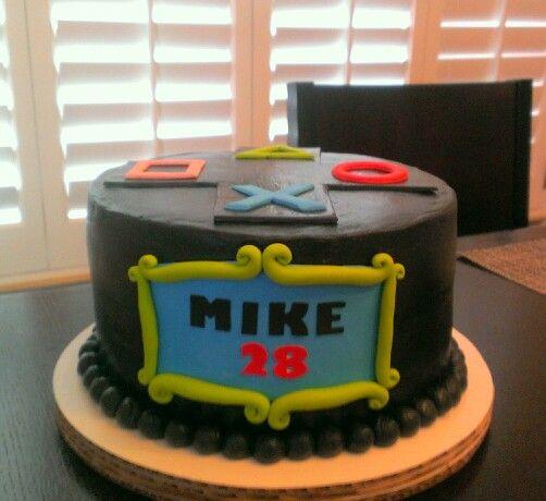 Playstation cake, fondant accents