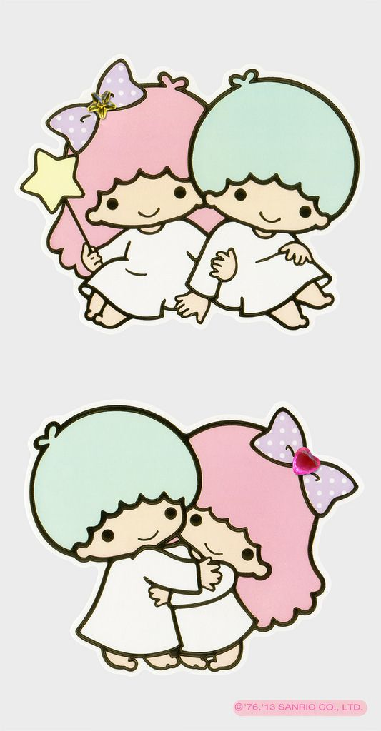 Sanrio Little Twin Stars Large and Small Stickers (2013) | Basteln