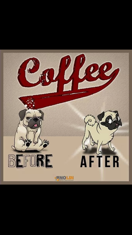 Coffee Humor Dogs Before and After Coffee From Funny