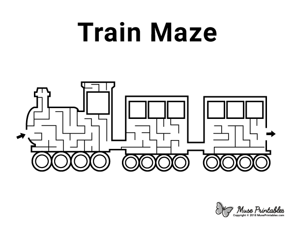 Free printable train maze. Download the maze and solution