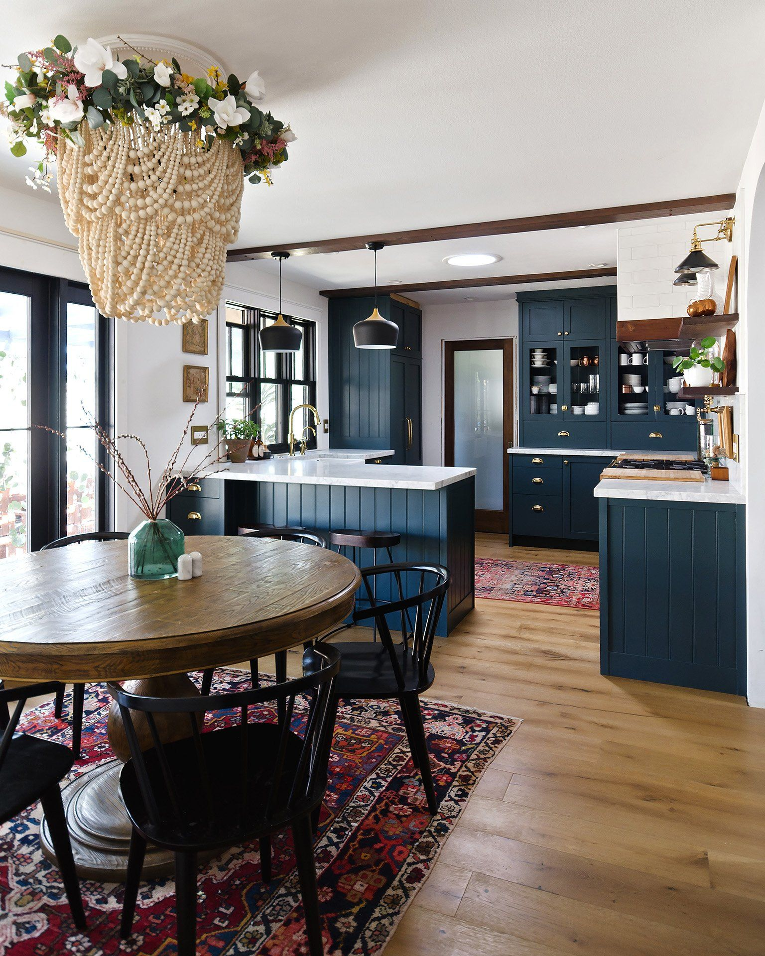 navy kitchen with a stunning built in in 2020 dining nook navy kitchen home on kitchen decor navy id=29583