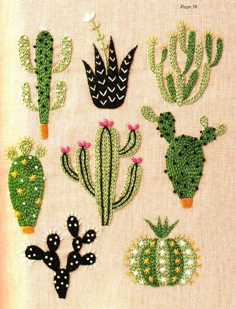 Succulent by yumiko higuchi craft ideas embroidery