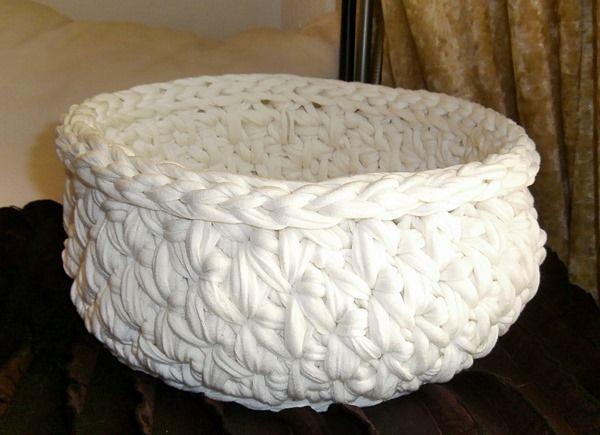 korb geh kelt aus zpagettigarn von la isla san auf trapillo pinterest h keln. Black Bedroom Furniture Sets. Home Design Ideas